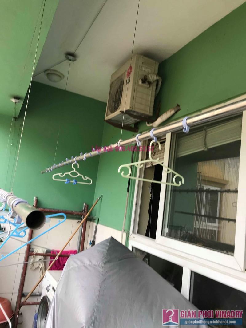 Sửa giàn phơi quần áo giá rẻ nhà chị Nhi, chung cư CT5, KĐT Mễ Trì Thượng, Nam Từ Liêm, Hà Nội- 09