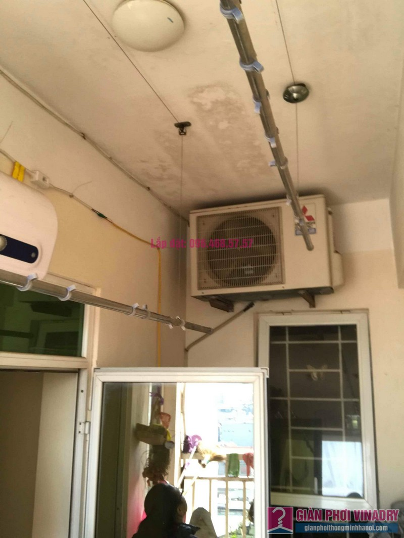 Sửa giàn phơi thông minh nhà anh Nam, chung cư 789 Bộ Quốc Phòng, Nam Từ Liêm, Hà Nội - 09