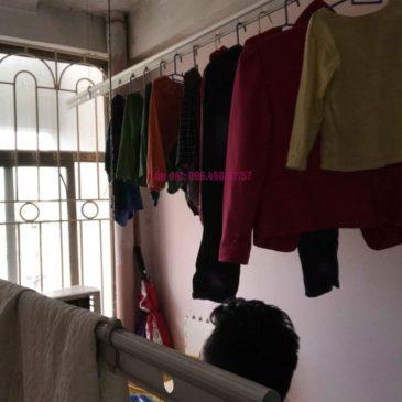 Sửa giàn phơi quần áo nhà anh Lý, chung cư C4, KĐT Mỹ Đình, Nam Từ Liêm, Hà Nội