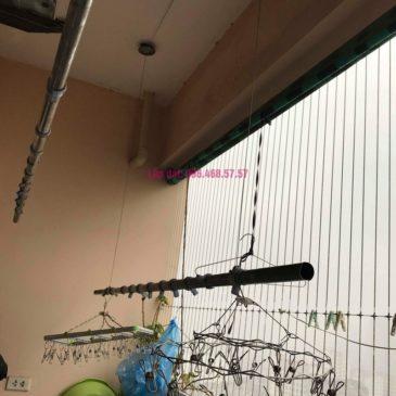 Sửa giàn phơi thông minh Hà Đông, nhà chị Vân, Tòa CT2 chung cư Nàng Hương