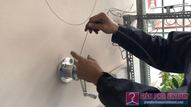 Lắp giàn phơi cho trần mái tôn nhà cô Khôi, ngách 10, ngõ 15 Gốc Đề, Minh Khai, Hà Nội - 03