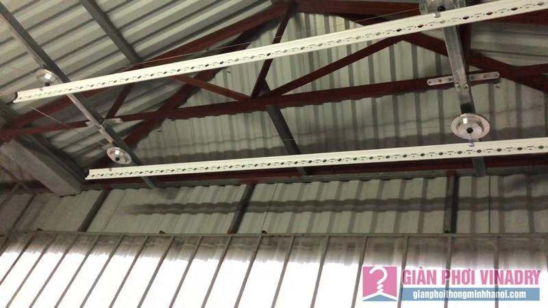 Lắp giàn phơi cho trần mái tôn nhà cô Khôi, ngách 10, ngõ 15 Gốc Đề, Minh Khai, Hà Nội - 07