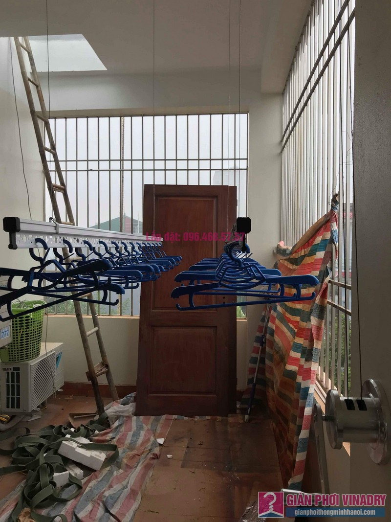 Lắp giàn phơi Hòa Phát Air nhà chị Tươi, ngõ 247 Ngô Xuân Quảng, Trâu Qùy, Gia Lâm, Hà Nội - 01