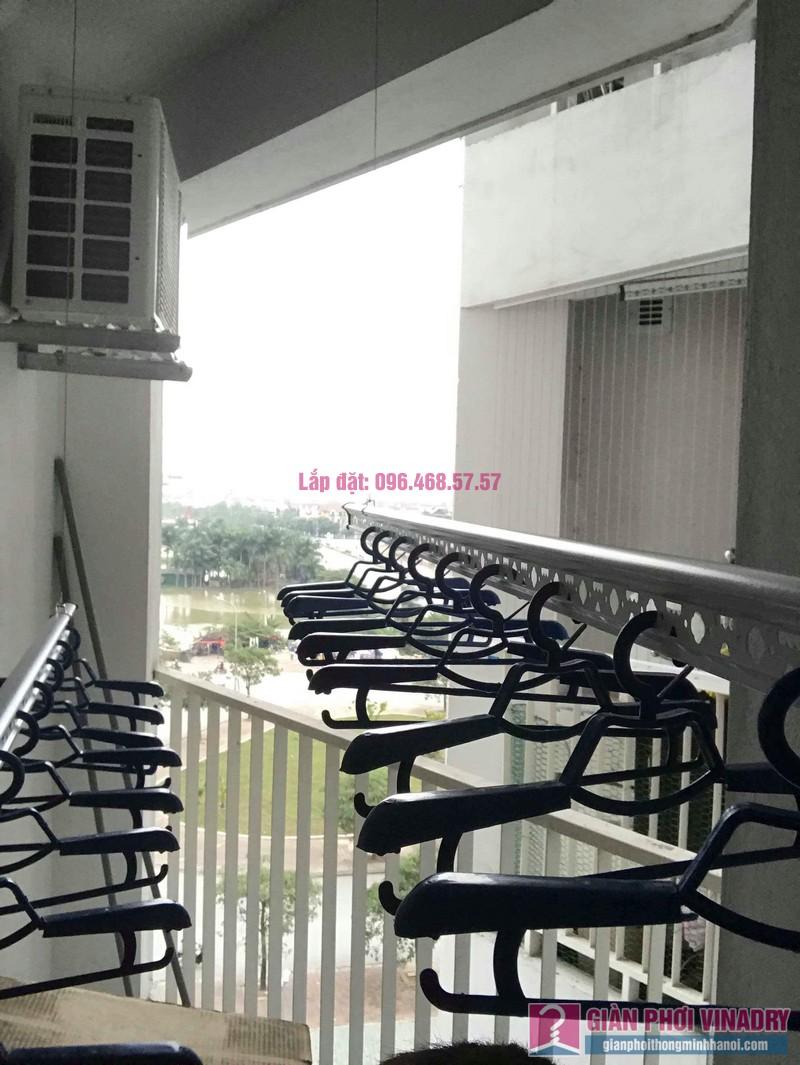 Lắp giàn phơi Hòa Phát Star nhà chị Nhiên, chung cư Green House Việt Hưng, Long Biên, Hà Nội - 01