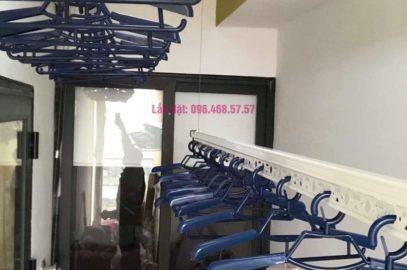 Lắp giàn phơi Hoàng Mai nhà chị Nam, chung cư Đồng Phát Park View Tower