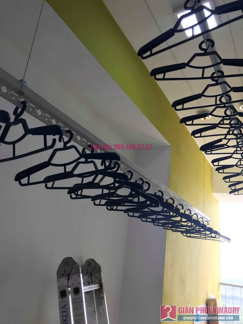 Lắp giàn phơi Hoàng Mai nhà chị Nam, chung cư Đồng Phát Park View Tower - 03