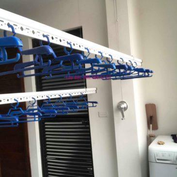 Lắp giàn phơi quần áo nhà chị Hải, ngõ 178 Thái Hà, Đống Đa, Hà Nội