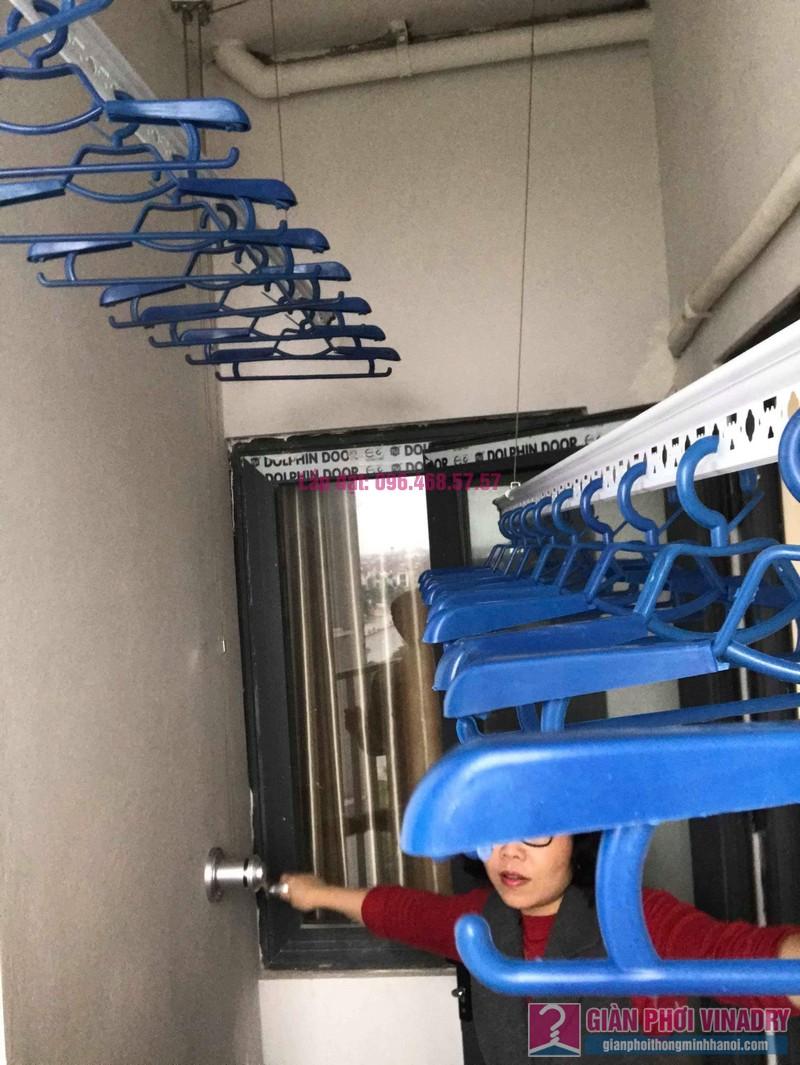 Lắp giàn phơi Hòa Phát Star nhà chị Nhiên, chung cư Green House Việt Hưng, Long Biên, Hà Nội - 08