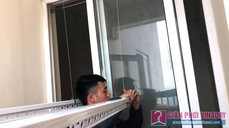 Lắp giàn phơi Thanh Xuân bộ giàn phơi Hòa Phát Star nhà chị Hải, chung cư 183 Hoàng Văn Thái - 08