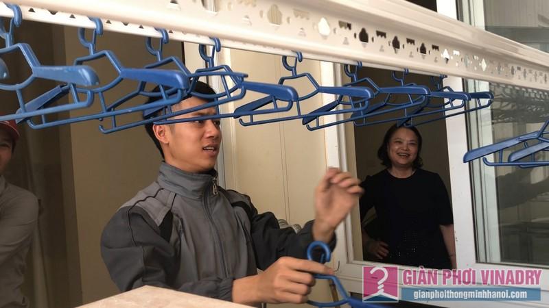 Lắp giàn phơi Thanh Xuân bộ giàn phơi Hòa Phát Star nhà chị Hải, chung cư 183 Hoàng Văn Thái - 10