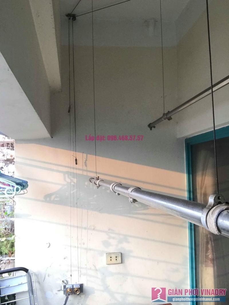 Sửa giàn phơi thông minh Ba Sao nhà anh Thiết, chung cư HUD3 Nguyễn Đức Cảnh, Hoàng Mai, Hà Nội - 01