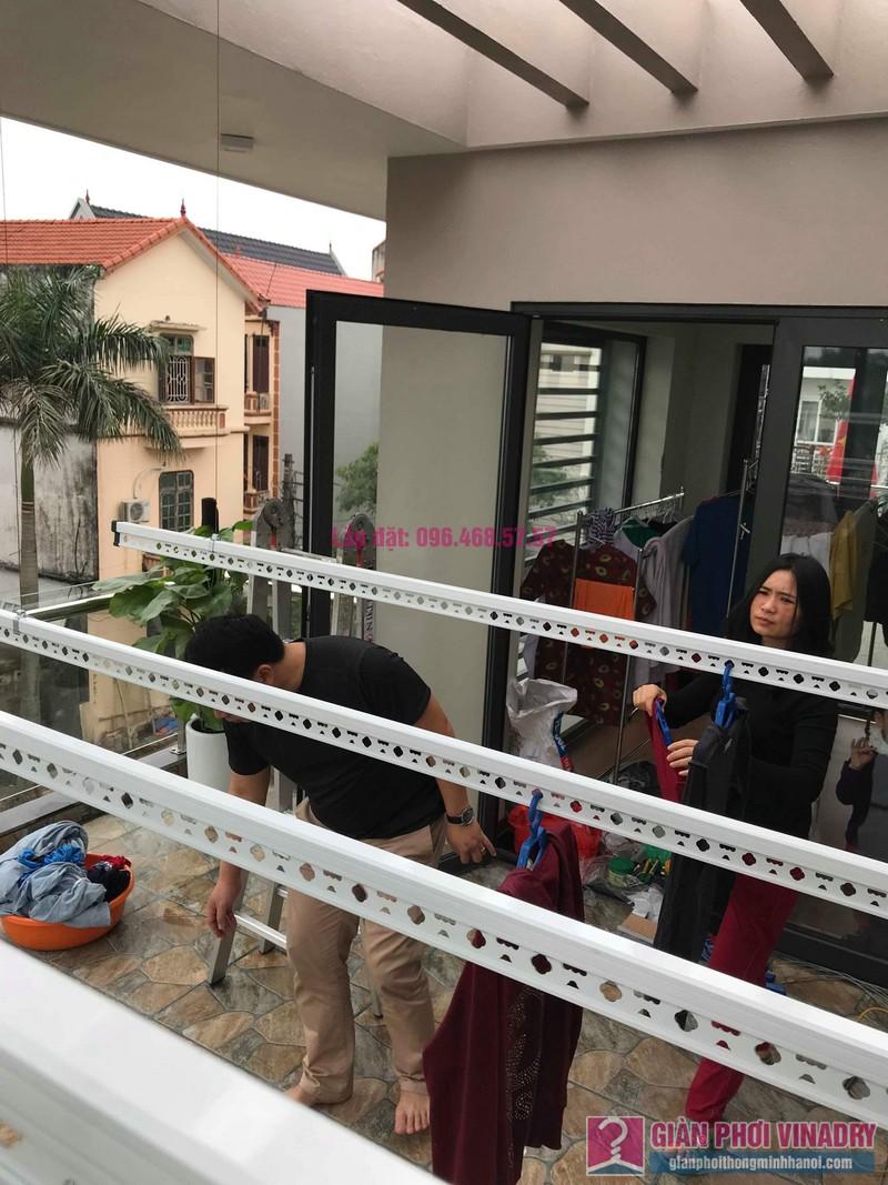 Lắp 2 bộ giàn phơi quần áo nhà chị Thanh, Tổ 9, TT Sóc Sơn, Sóc Sơn, Hà Nội - 02