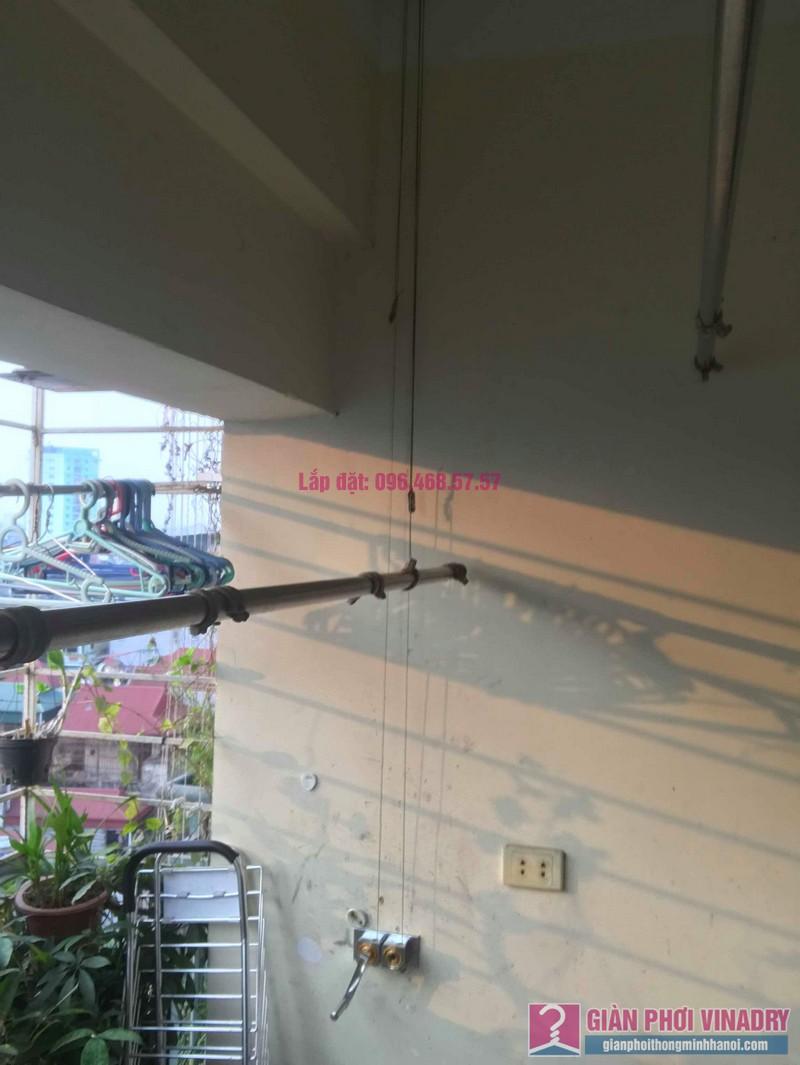 Sửa giàn phơi thông minh Ba Sao nhà anh Thiết, chung cư HUD3 Nguyễn Đức Cảnh, Hoàng Mai, Hà Nội - 02