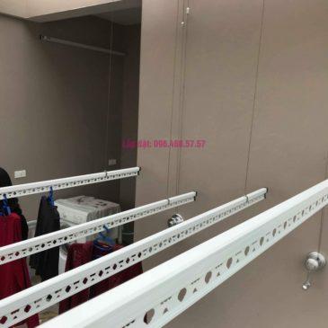 Lắp 2 bộ giàn phơi quần áo nhà chị Thanh, Tổ 9, TT Sóc Sơn, Sóc Sơn, Hà Nội
