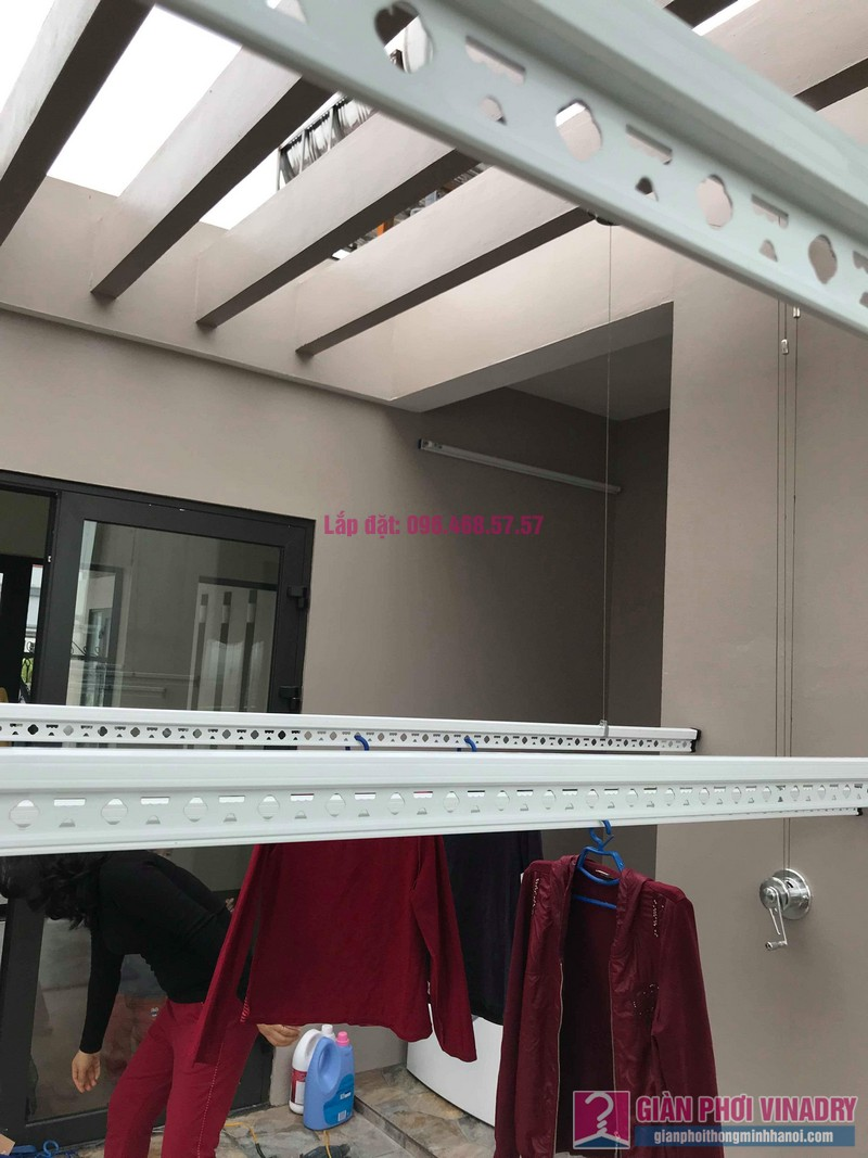 Lắp 2 bộ giàn phơi quần áo nhà chị Thanh, Tổ 9, TT Sóc Sơn, Sóc Sơn, Hà Nội - 04