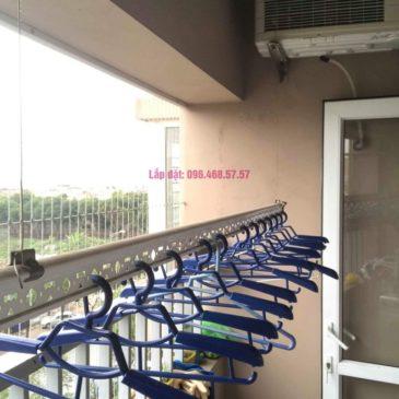 Sửa chữa giàn phơi thông minh nhà chị Tình, Tòa GH5 Green House, Long Biên, Hà Nội