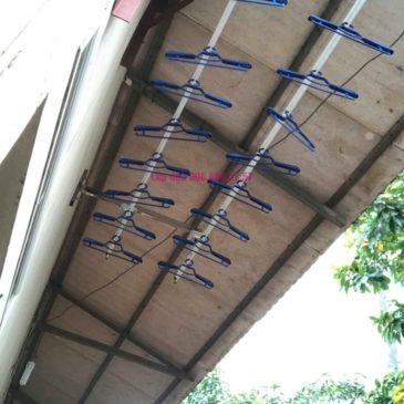 Lắp giàn phơi thông minh nhà anh Dũng, Khu TT đường sắt Hà Thái, Đông Anh, Hà Nội