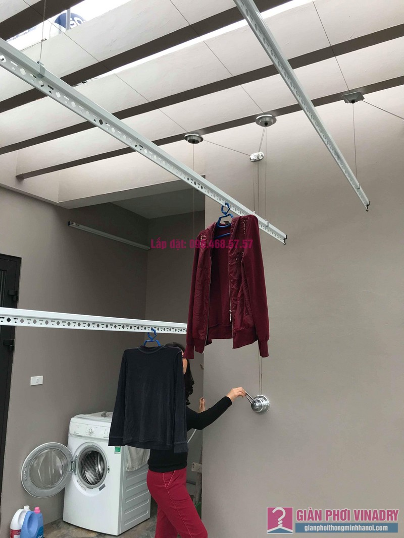 Lắp 2 bộ giàn phơi quần áo nhà chị Thanh, Tổ 9, TT Sóc Sơn, Sóc Sơn, Hà Nội - 07