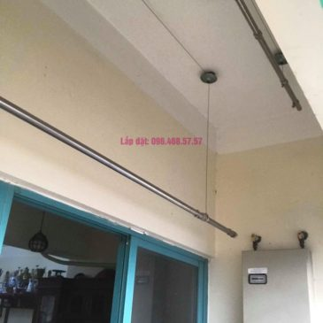 Sửa giàn phơi thông minh Ba Sao nhà anh Thiết, chung cư HUD3 Nguyễn Đức Cảnh, Hoàng Mai, Hà Nội
