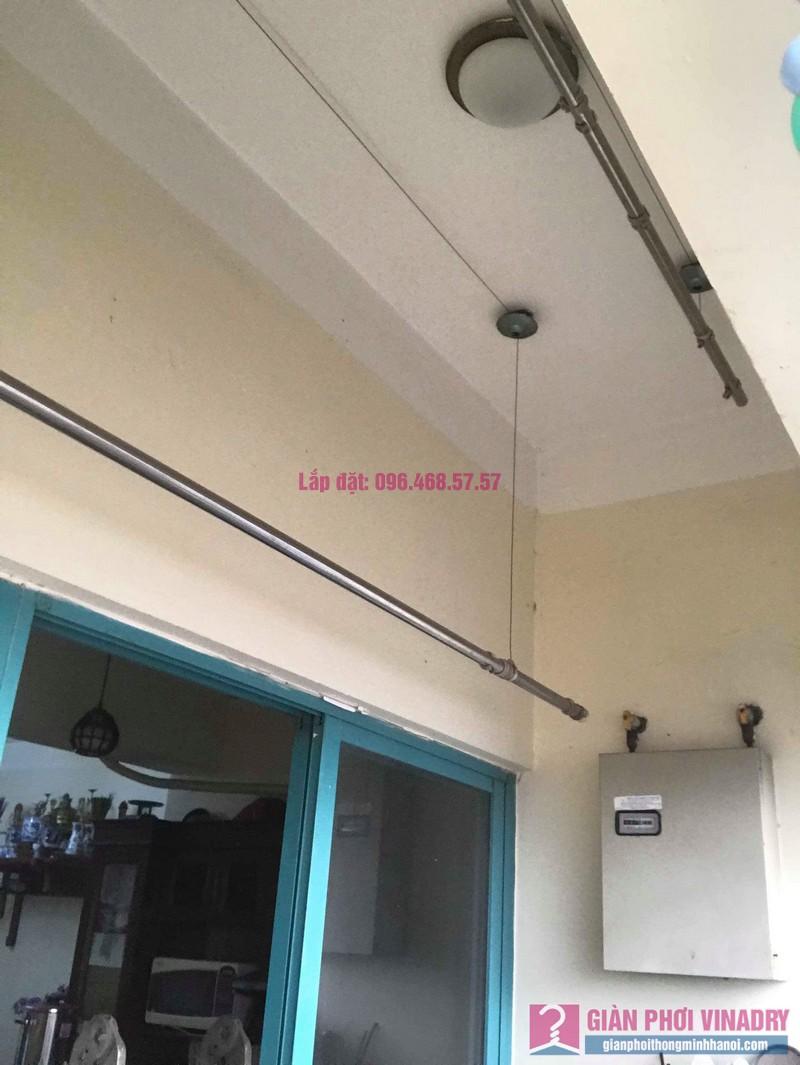Sửa giàn phơi thông minh Ba Sao nhà anh Thiết, chung cư HUD3 Nguyễn Đức Cảnh, Hoàng Mai, Hà Nội - 06