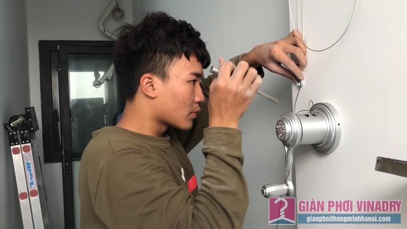 Lắp giàn phơi Thanh Xuân nhà anh Cường, chung cư Five Star, số 2 Kim Giang - 06