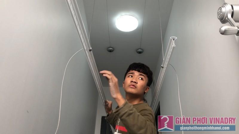 Lắp giàn phơi Thanh Xuân nhà anh Cường, chung cư Five Star, số 2 Kim Giang - 07