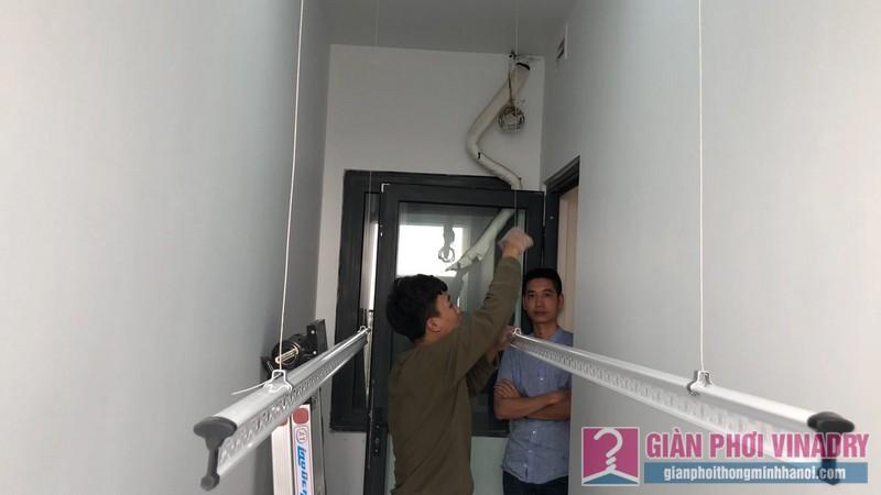 Lắp giàn phơi Thanh Xuân nhà anh Cường, chung cư Five Star, số 2 Kim Giang - 09