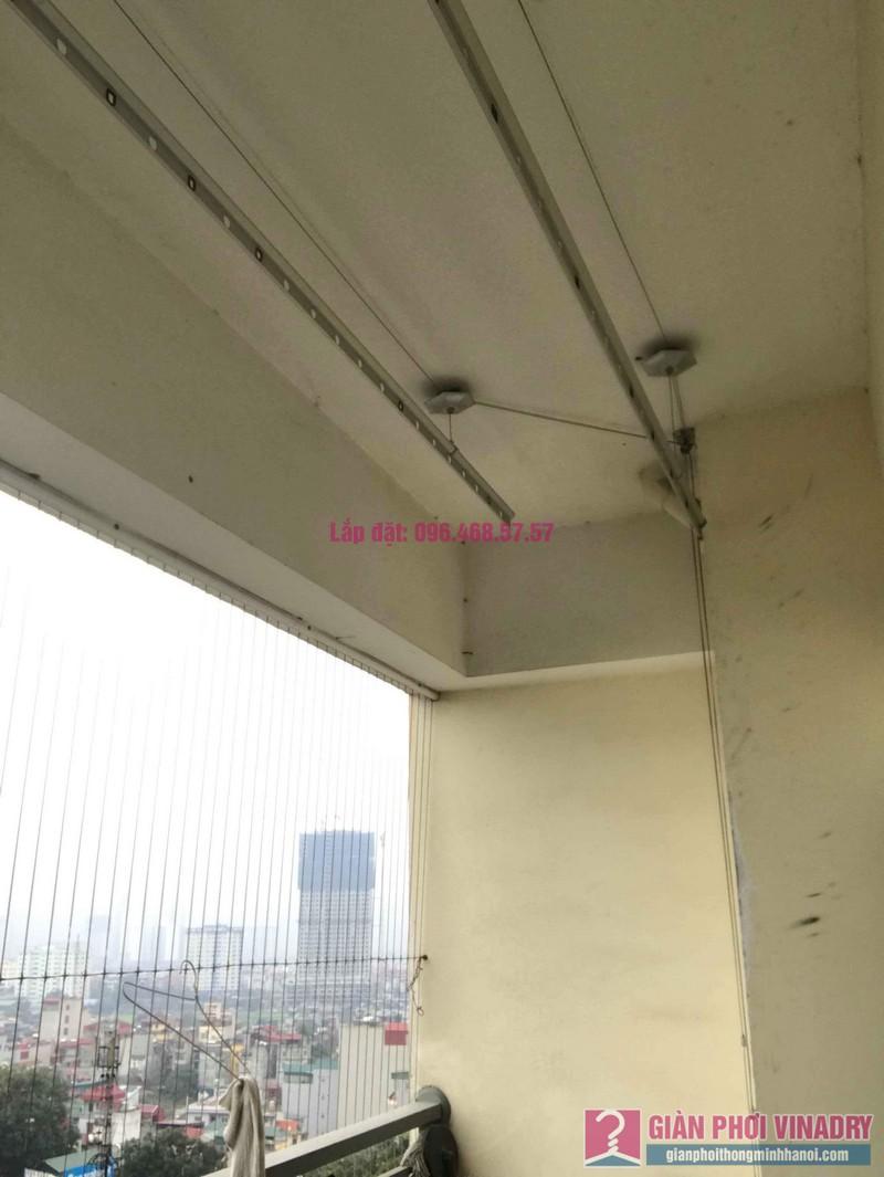 Thay dây cáp giàn phơi thông minh nhà chị Thanh, CT2 chung cư Nam Đô Complex, Hoàng Mai, Hà Nội - 01