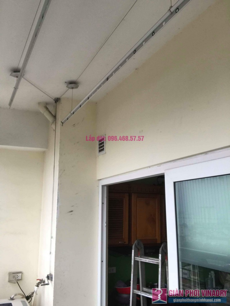 Thay dây cáp giàn phơi thông minh nhà chị Thanh, CT2 chung cư Nam Đô Complex, Hoàng Mai, Hà Nội - 02