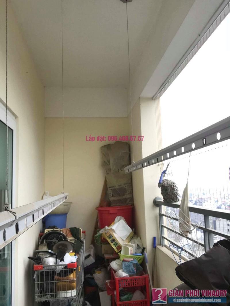 Thay dây cáp giàn phơi thông minh nhà chị Thanh, CT2 chung cư Nam Đô Complex, Hoàng Mai, Hà Nội - 04