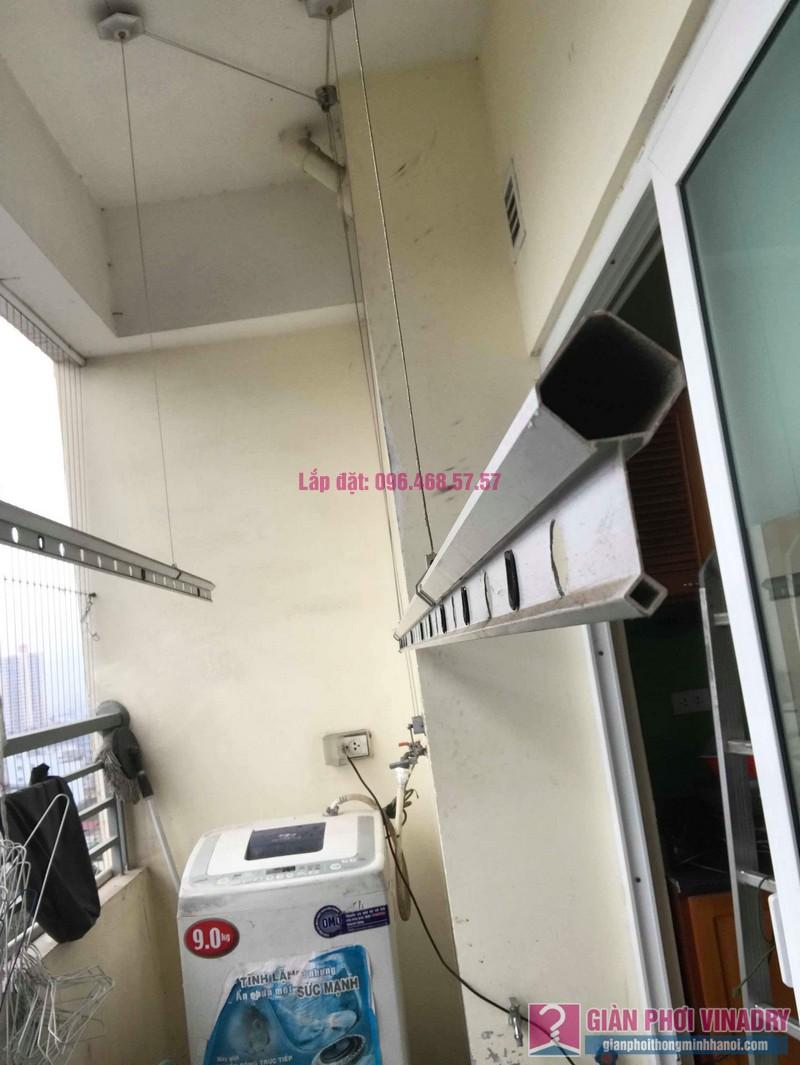 Thay dây cáp giàn phơi thông minh nhà chị Thanh, CT2 chung cư Nam Đô Complex, Hoàng Mai, Hà Nội - 05