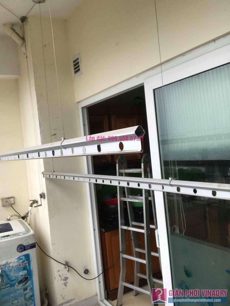 Thay dây cáp giàn phơi thông minh nhà chị Thanh, CT2 chung cư Nam Đô Complex, Hoàng Mai, Hà Nội - 06