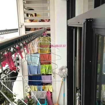 Sửa giàn phơi quần áo nhà chị Hoa, tòa R3, Royal City, Thanh Xuân, Hà Nội
