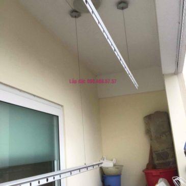 Thay dây cáp giàn phơi thông minh nhà chị Thanh, CT2 chung cư Nam Đô Complex, Hoàng Mai, Hà Nội