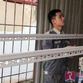 Lắp giàn phơi Hoàng Mai: bộ đôi giàn phơi Hoà Phát 999b nhà anh Thu, ngõ 533 Tam Trinh