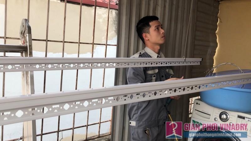 Lắp giàn phơi Hoàng Mai: bộ đôi giàn phơi Hoà Phát 999b nhà anh Thu, ngõ 533 Tam Trinh - 04