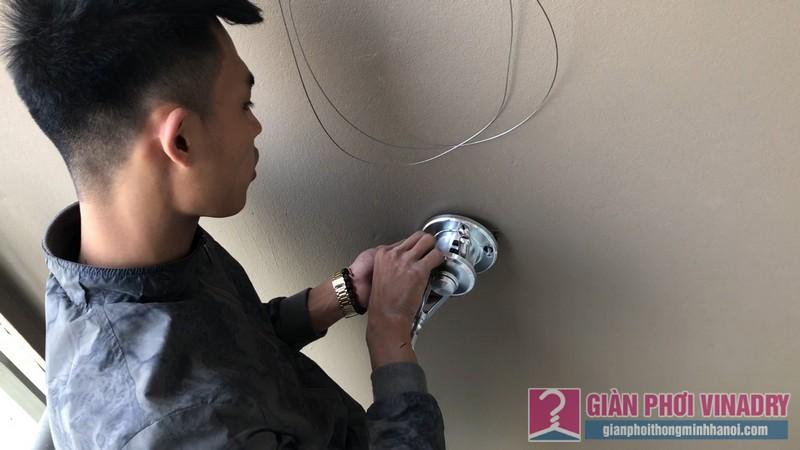 Lắp giàn phơi Cầu giấy bộ giàn phơi Hòa Phát Air 701 nhà chị Linh, chung cư CT4 Vimeco - 03