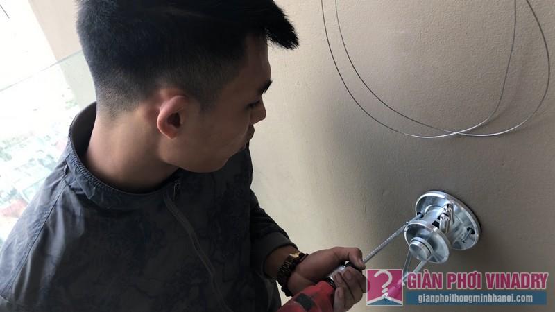 Lắp giàn phơi Cầu giấy bộ giàn phơi Hòa Phát Air 701 nhà chị Linh, chung cư CT4 Vimeco - 04