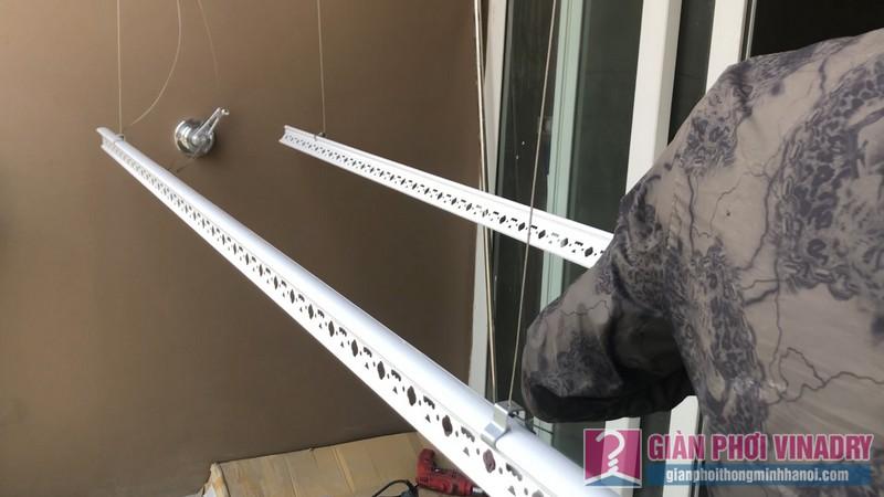 Lắp giàn phơi Cầu giấy bộ giàn phơi Hòa Phát Air 701 nhà chị Linh, chung cư CT4 Vimeco - 07