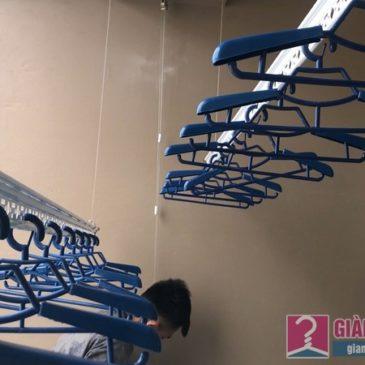 Lắp giàn phơi Cầu giấy bộ giàn phơi Hòa Phát Air 701 nhà chị Linh, chung cư CT4 Vimeco