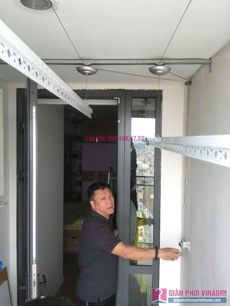 Lắp giàn phơi Hòa Phát 999b nhà chú Khôi, chung cư Mipec Riverside Long Biên, Hà Nội - 07
