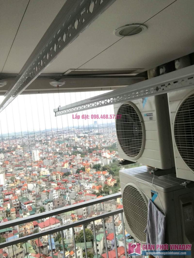 Lắp giàn phơi Hòa Phát 999b nhà chú Khôi, chung cư Mipec Riverside Long Biên, Hà Nội - 08