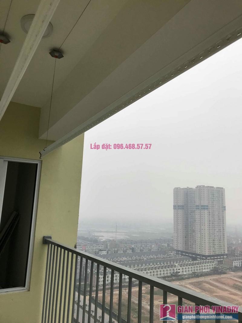 Lắp giàn phơi giá rẻ nhà chị Thịnh, Tòa 18T1 chung cư The Golden An Khánh, Hoài Đức, Hà Nội - 02