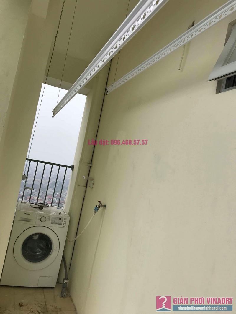 Lắp giàn phơi giá rẻ nhà chị Thịnh, Tòa 18T1 chung cư The Golden An Khánh, Hoài Đức, Hà Nội - 03