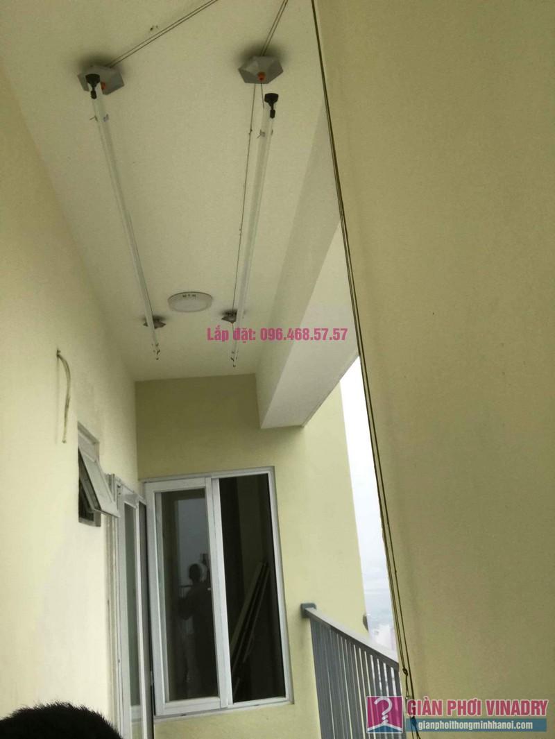 Lắp giàn phơi giá rẻ nhà chị Thịnh, Tòa 18T1 chung cư The Golden An Khánh, Hoài Đức, Hà Nội - 04
