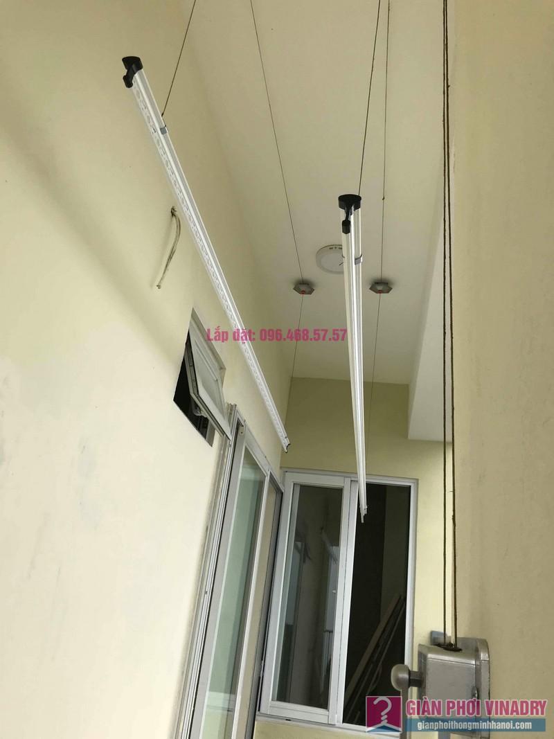 Lắp giàn phơi Hoài Đức giá rẻ nhà chị Thịnh, Tòa 18T1 chung cư The Golden An Khánh