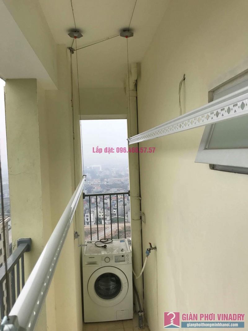 Lắp giàn phơi giá rẻ nhà chị Thịnh, Tòa 18T1 chung cư The Golden An Khánh, Hoài Đức, Hà Nội - 06