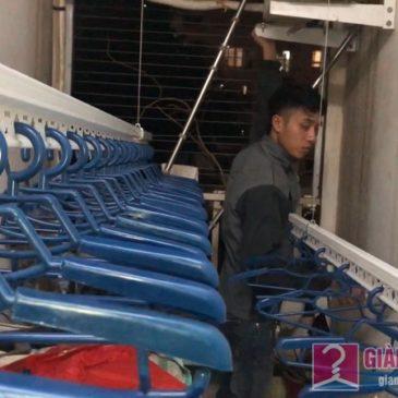 Lắp giàn phơi Long Biên bộ giàn phơi 701 nhà chị Nga, CT18, KĐT Việt Hưng