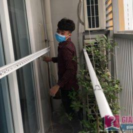 Lắp giàn phơi quần áo 999b nhà chị Tú, chung cư CT1 – A2 Linh Đàm, Hoàng Mai Hà Nội