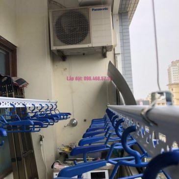 Lắp giàn phơi quần áo nhà chị Băng, tòa nhà Vaem Tây Hồ, ngõ 689 Lạc Long Quân